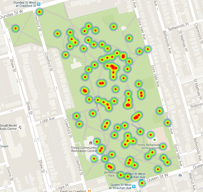 How to create a heatmap layer on Google Maps using JQuery