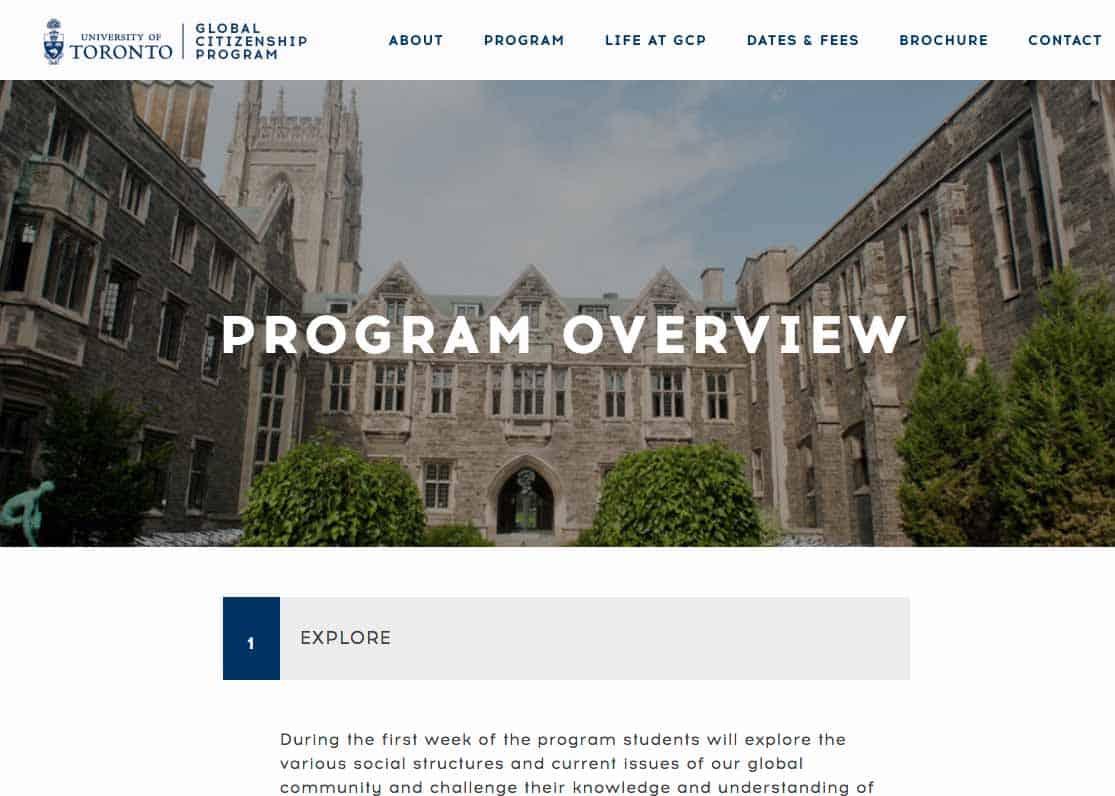 University Of Toronto Toronto Web Design And Development Shift8 Web
